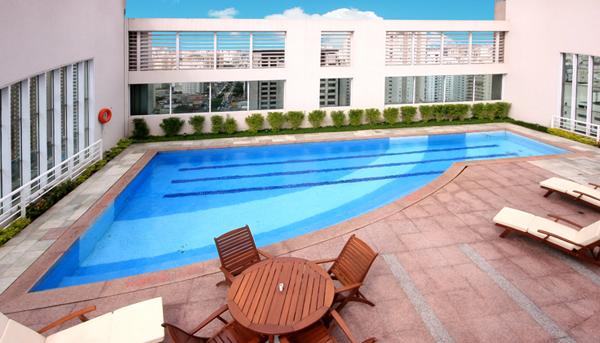 piscina terraço hotel comfort ibirapuera