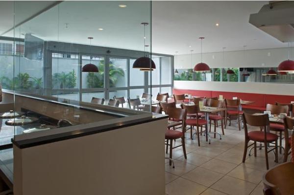 vista interna do restaurante comfort nova paulista