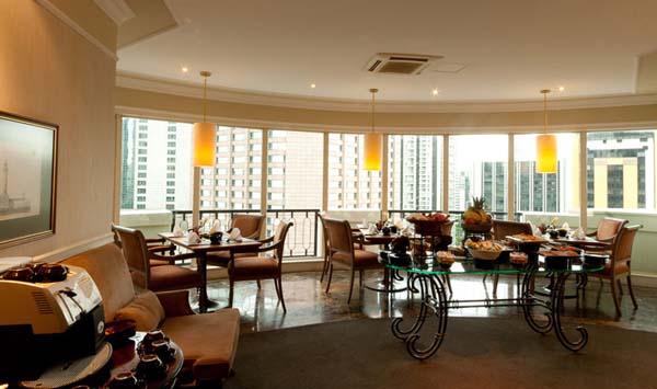 lounge do hotel gran estanplaza são paulo no 16º andar