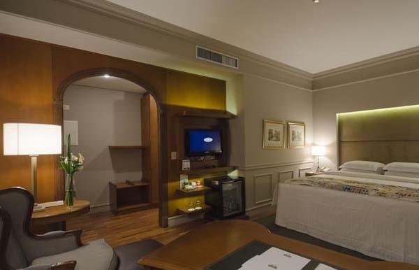 quarto do hotel gran estanplaza são paulo