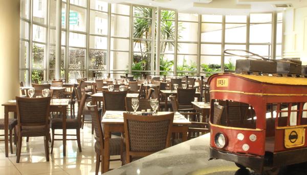 restaurante pórtico hotel comfort downtown